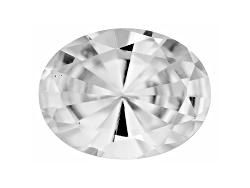 ZNV059<br>Tanzanian White Zircon Average 2.40ct 9x7mm Oval Mixed Cut