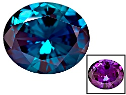 AX008<br>Lab Created Color Change Alexandrite Minimum 4.50ct 12x10mm Oval  Diamond Cut