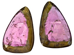 TW041<br>Matched Pair Of Saribia Tourmaline(Tm) Min 30ctw Mm Varies Faceted Free Form Shape/Size/Col