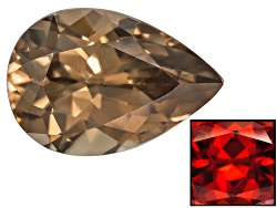 ZNP009<br>Nigerian Thermochromic Zircon Min 1.00ct Mm Varies Pear Shape Caution:heat Sensitive