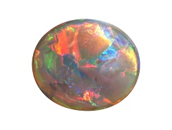 BOV070<br>Australian Lightning Ridge Black Opal 5.40ct 15x12.7mm Oval Cabochon