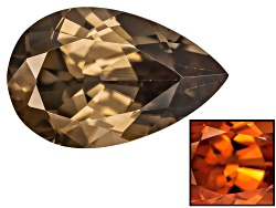 XTP083<br>Nigerian Thermochromic Zircon 3.62ct 12x7.5mm Pear Shape Caution When Working W/Heat Gemwo