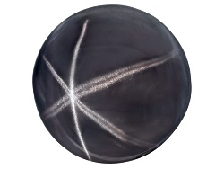 XTP123<br>Sri Lankan Blackish Blue Star Spinel 8.43ct 10.62x10.53x7.97mm Round Cabochon W/ Gemworld