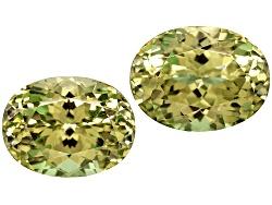 XTP762<br>Set Of 2 Mali Yellow Green Grossularite-andradite Garnet 3.67ctw 8x6mm Oval With Gemworld