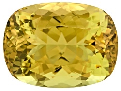XTP797<br>Vivid Greenish Yellow Sanidine 86.96ct 31.33x23.39mm Rectangular Cushion With Gemworld Rep