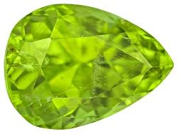 PEP059<br>Pakistani Kashmir Peridot 3.46ct 10x7.5mm Pear Shape