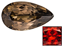 ZNP020<br>Nigerian Thermochromic Zircon Min 2.00ct Mm Varies Pear Shape Color Varies Caution:heat Se