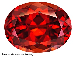 ZNV187<br>Nigerian Thermochromic Zircon Min 3.30ct Mm Varies Oval Color Varies Caution:heat Sensitiv