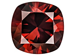 OBG104<br>Tanzanian Red Zircon Min 4.25ct 9mm Square Cushion