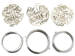 JSKIT0637<br>Hexagonal Wire And Crimp Connector Kit Tarnish Resistant Silver Plated Wire And Instruc