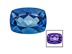 FL068<br>Color Change Blue Fluorite Minimum 17.00ct 18x13mm Rectangular Cushion Mixed Cut