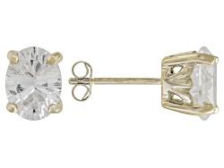 NUE041<br>1.79ctw Oval Danburite 10k Yellow Gold Stud Earrings