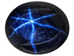 SA125<br>Blue Star Sapphire 5.50ct Minimum 11x9mm Oval Cabochon