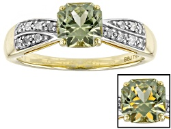 ZUL022<br>1.00ct Fancy Cut Zultanite(R) And .10ctw Round White Diamonds, 14k Yellow Gold Ring