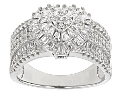 BMC478<br>Bella Luce (R) 2.24ctw Rhodium Over Sterling Silver Ring (1.58ctw Dew)