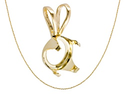 JMK036<br>Gemtite Nostalgia(Tm) 14k Yellow Gold 12x10mm Oval Pendant Casting; 14k Yellow Gold Pendan