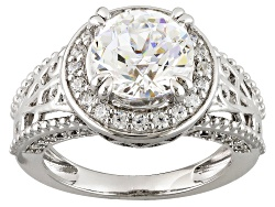 RRB364<br>Remy Rotenier For Bella Luce (R) 5.49ctw Diamond Simulant Rhodium Over Sterling eiffel To