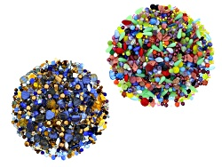 JLWKIT4489<br>Czech Glass 2 Pound Bag Of Asst Color, Shape & Size Beads, Incl Starry Night & Color E
