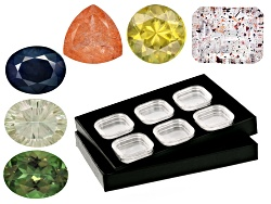 GCK041<br>Gems From Madagascar: Sapphire, Sphene, Orthoclase, Strawberry Qtz, Apatite, Sagenitic Qtz